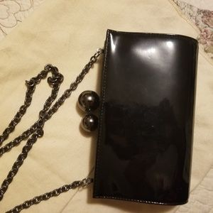 Rodo(Italy)Black Leather Purse